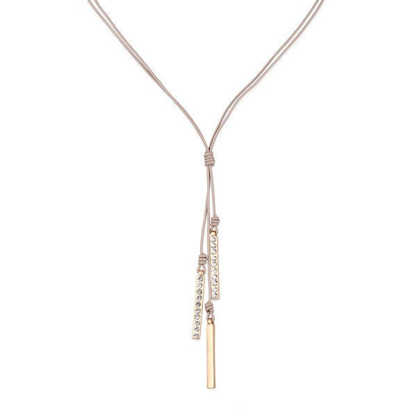Saachi Leather Hanging Bar Pendants Necklace (China)