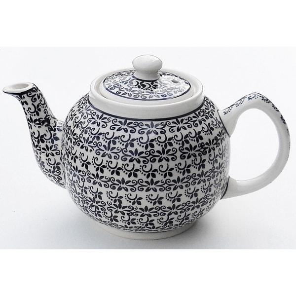 Handmade Stoneware Teapot (Poland) 21379201