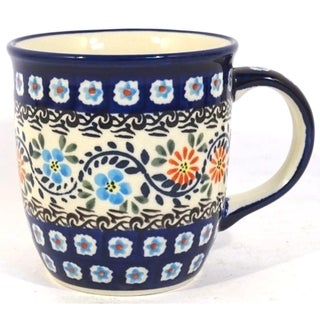 Handmade Stoneware 12-ounce Mug (Poland) 21379207
