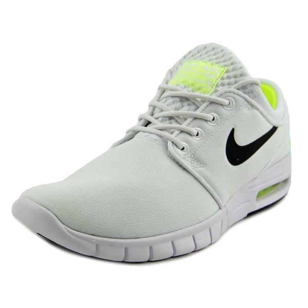 Nike Men's 'Stefan Janoski Max' White Canvas Athletic Shoes