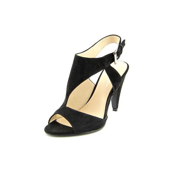 Nine West Women's 'Shape Up' Black Regular Suede Sandals Size 10 in Black (As Is Item)