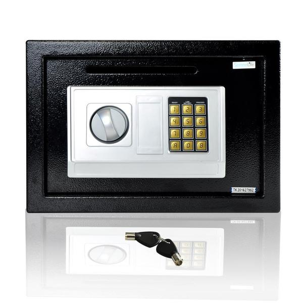 SereneLife Electronic Safe Box With Mechanical Key Override
