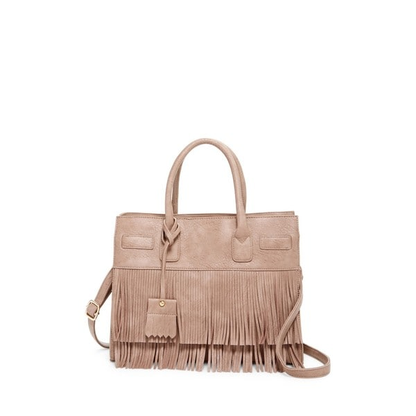 Pink Haley Millie Fringe Tote Bag