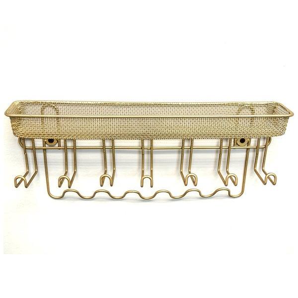 Sorbus Gold Jewelry 13-hook Wall-mounted Organizer Storage Shelf