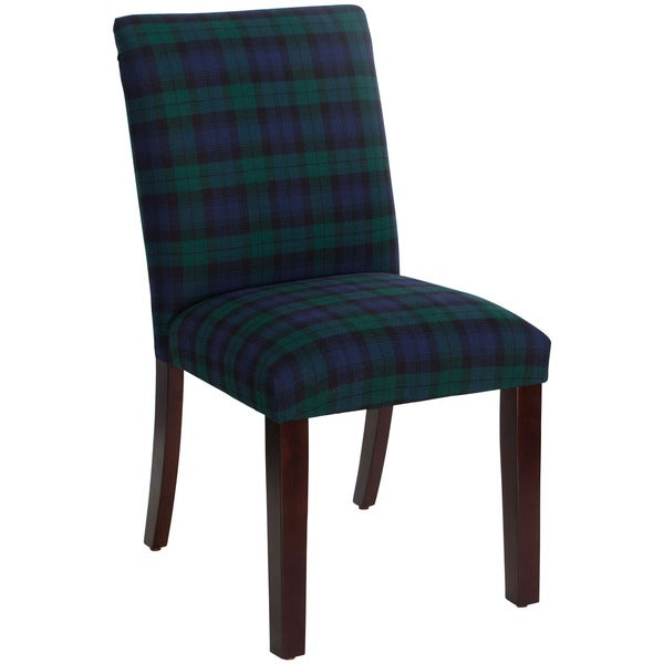 Skyline Furniture Blackwatch Black and Green Cotton Upholstered Dining Chair