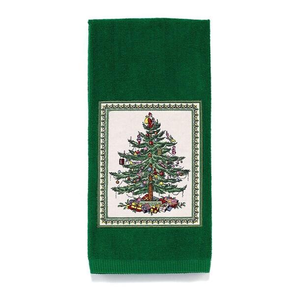 Avanti Spode Tree Green Cotton Applique Kitchen Towel