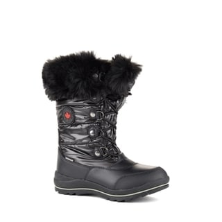 Cougar Women's 'Cranbrook' Black/Grey/Brown Nylon Cold-weather Boots