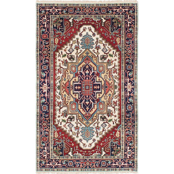 eCarpetGallery Serapi Heritage Ivory/Red Wool/Cotton Hand-knotted Rug (4'8 x 7'9) 21393715