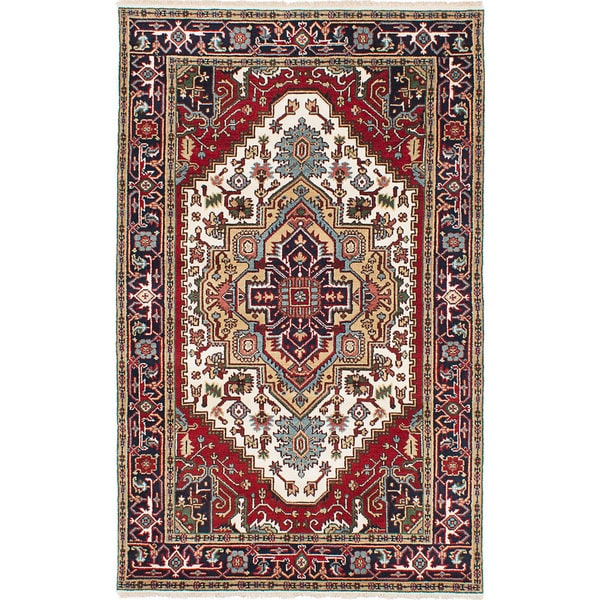 eCarpetGallery Serapi Heritage Ivory/ Red Wool Hand-Knotted Rug (4'11 x 8') 21393725