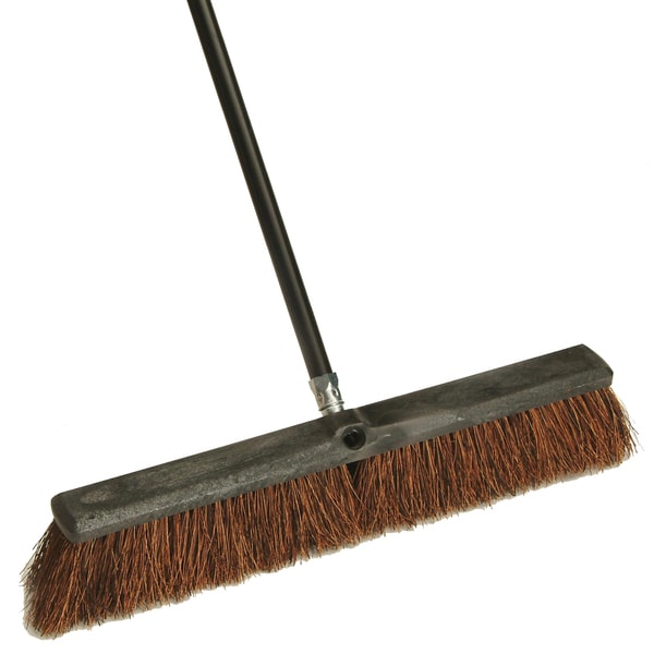"Laitner Brush Company 255 18"" Block Push Broom With 60"" Metal Handle"