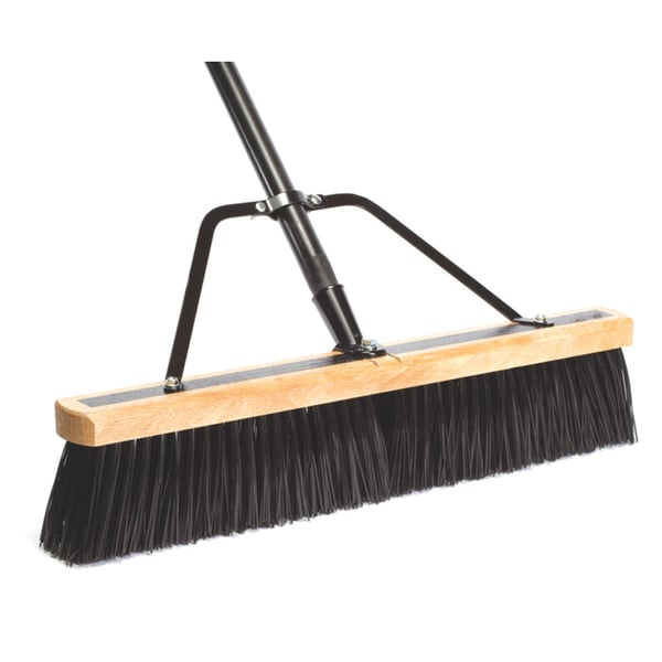 "DQB Industries 09944 24"" Push Broom With Handle & Brace"