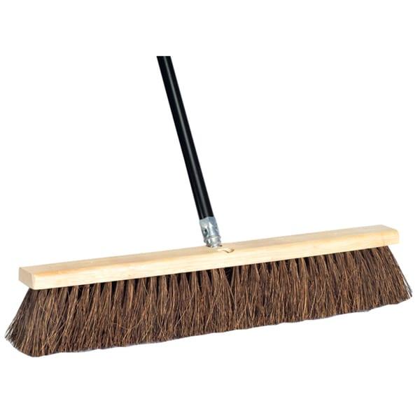 """DQB Industries 09982 24"""" Palmyra Push Broom & Handle"""