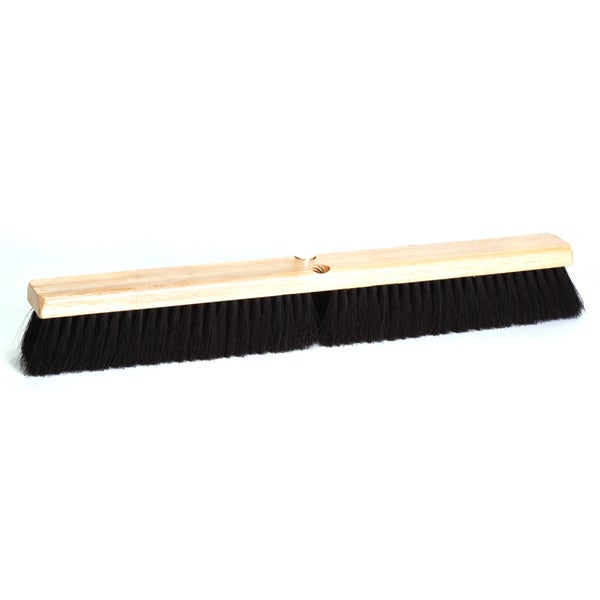 "DQB Industries 10623 24"" Black Tampico Floor Broom Head"