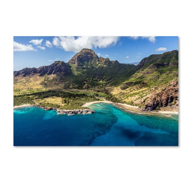 Pierre Leclerc 'Kauai from the Air' Canvas Art