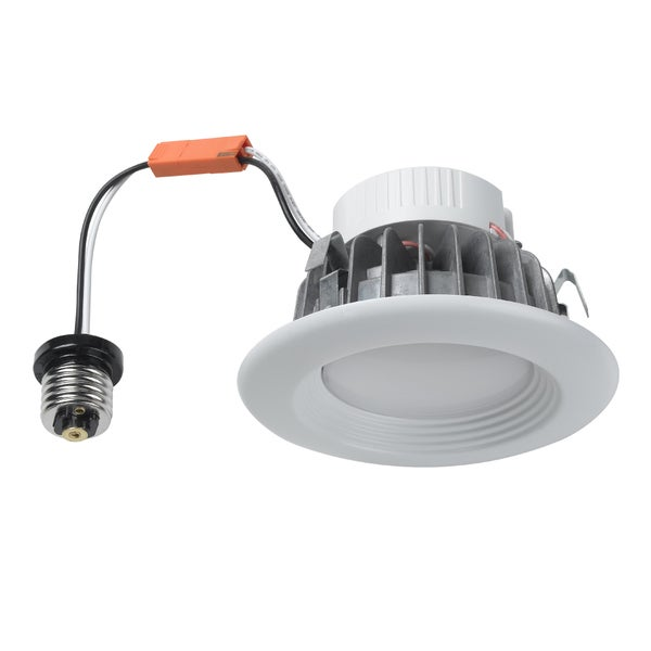 Maximus White Aluminum 4-inch Dimmable Recessed 12W LED Down Light Kit