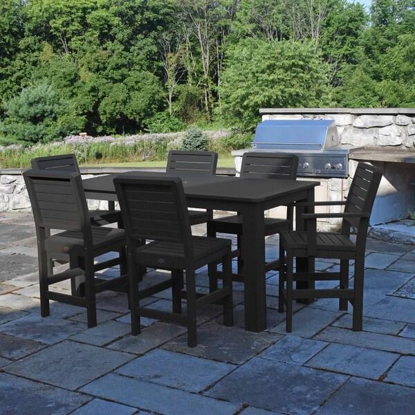 Highwood Marine-grade Synthetic Wood Weatherly 7-piece Rectangular Counter Height Dining Set