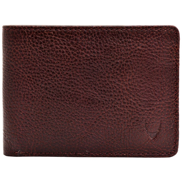 Hidesign Giles Brown Leather Wallet With Coin Pocket