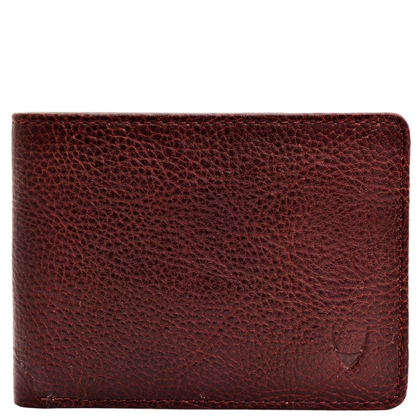 Hidesign Giles Brown Leather Multi-compartment Tri-fold Wallet