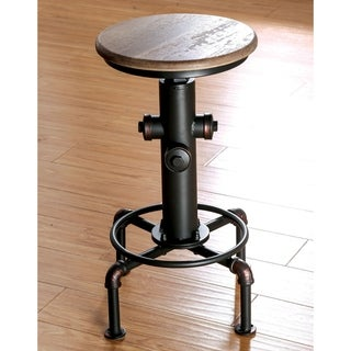 Furniture of America Cess Industrial Black Counter Stools (Set of 2)