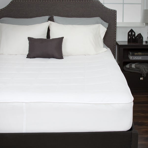 Windsor Home Down Alternative Fleece Mattress Pad With Fitted Skirt