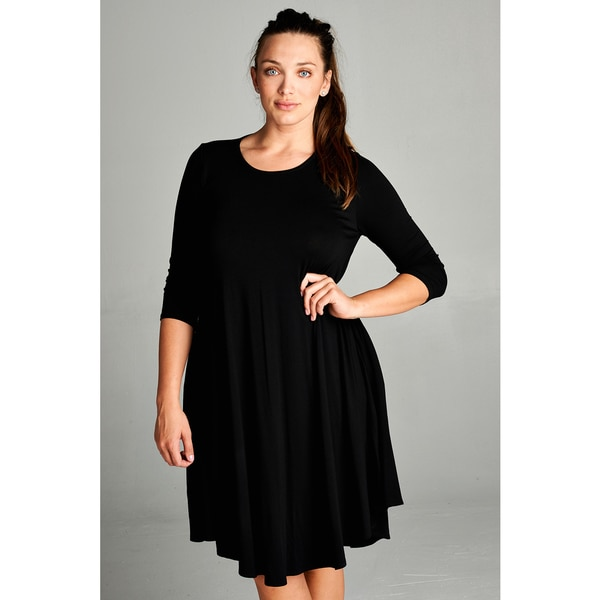 Spicy Mix Macie Rayon Jersey Mini Tunic Dress