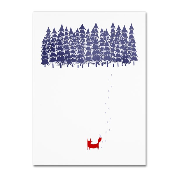 Robert Farkas 'Alone In The Forest' Canvas Art