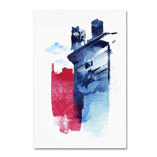 Robert Farkas 'This Is My Town' Canvas Art