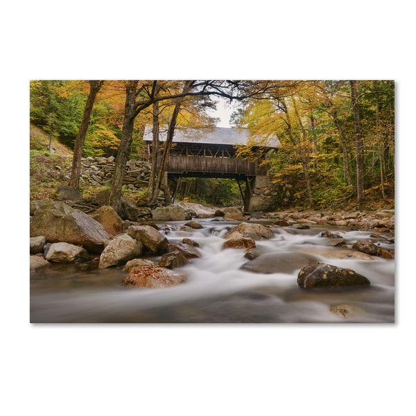 Michael Blanchette Photography 'The Flume Bridge' Canvas Art