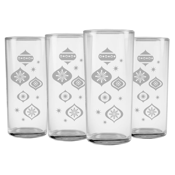 Deck the Halls Slim Highball Glass (Set of 4)