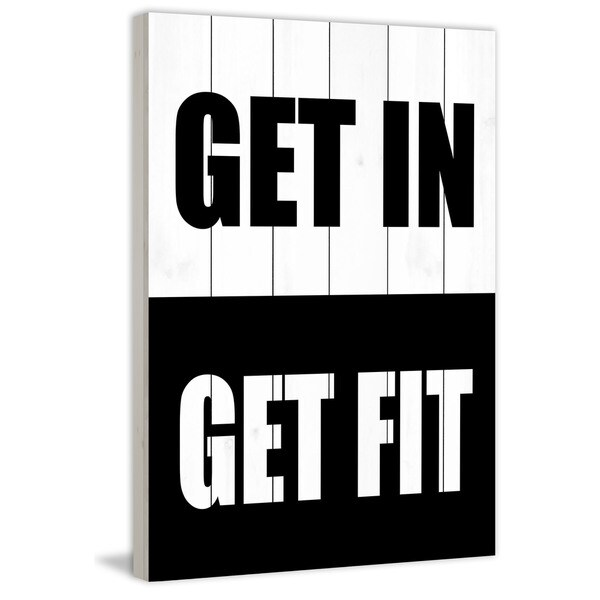 Marmont Hill - 'Get in Get Fit' by Diana Alcala Painting Print on White Wood