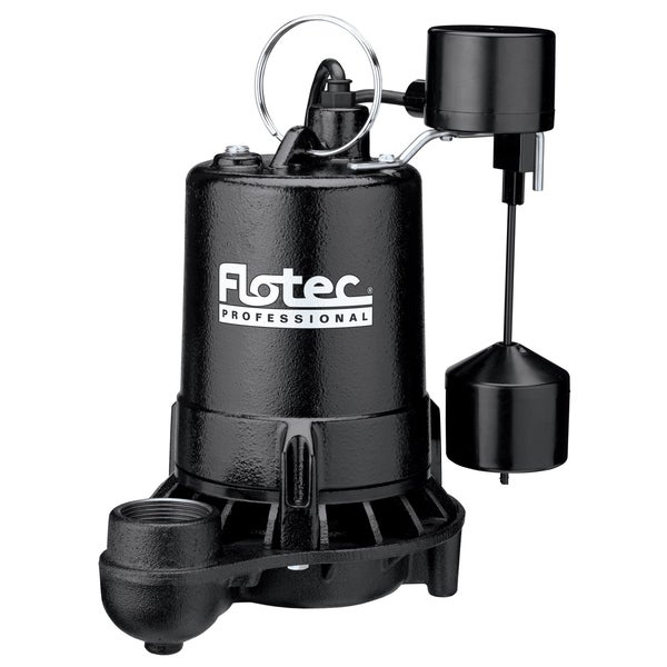 Flotec E75VLT 3/4 HP Cast Iron Professional Series Submersible Sump Pump