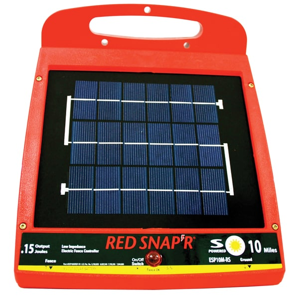 Red Snapr ESP10M-RS 10 Mile Solar Low Impedance Fence Charger
