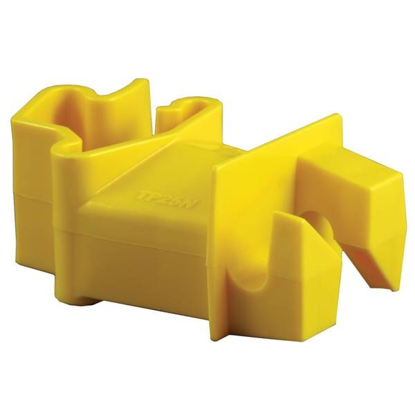 Zareba ITY-RS Yellow T Post Insulator 25 Count
