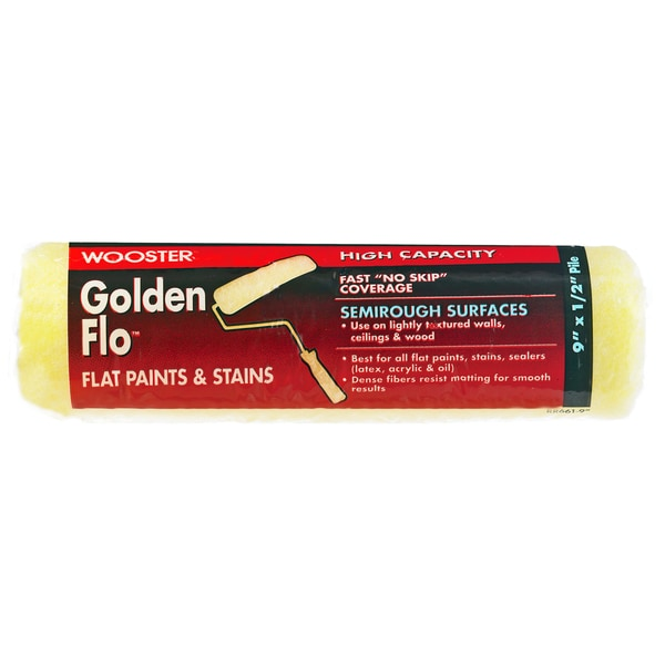 "Wooster RR661-9 1/2"" Nap Golden Flo Paint Rollers"