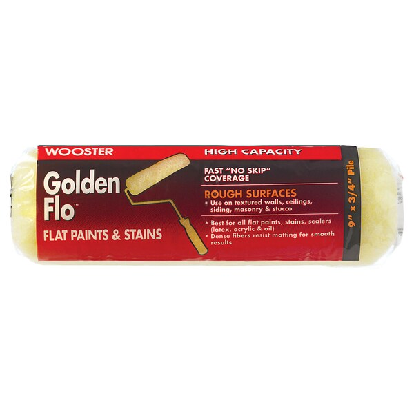 "Wooster RR662-9 3/4"" Golden Flo Paint Rollers"