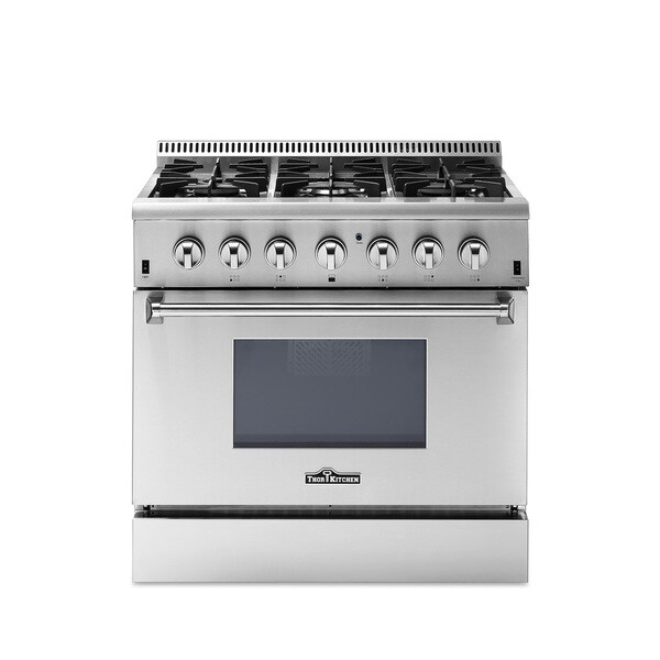 36 inch Dual Fuel Range in Stainless Steel