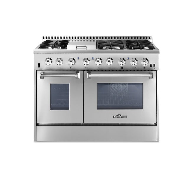 48 inch Dual Fuel Range in Stainless Steel