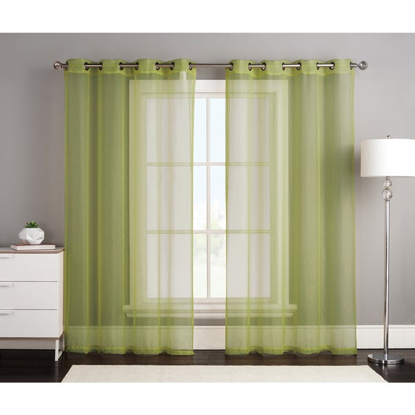 Kylie by Artistic Linen Grommet Top Window Curtain Panel