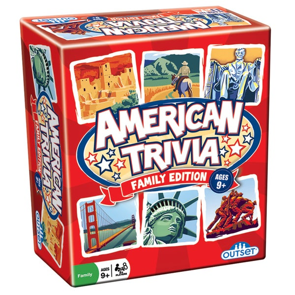 Outset Media American Trivia: Travel Edition Trivia Game
