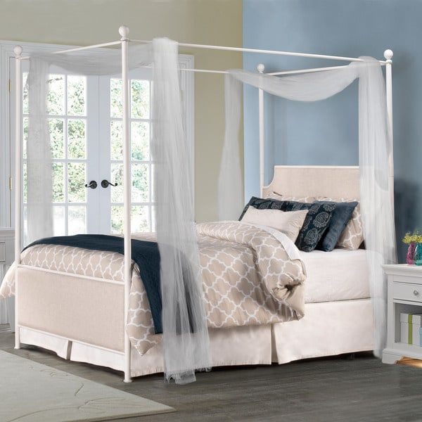 Hillsdale McArthur Off-white Canopy Bed Set