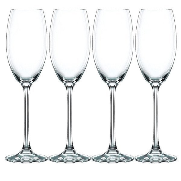 Nachtmann Vivendi Clear Glass 9-ounce Champagne Glasses (Pack of 4)