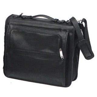 Goodhope Black Leather 13-inch Compact Laptop Portfolio Bag