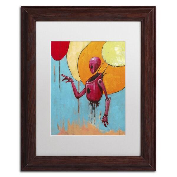 Craig Snodgrass 'Red Junk Robot' Matted Framed Art