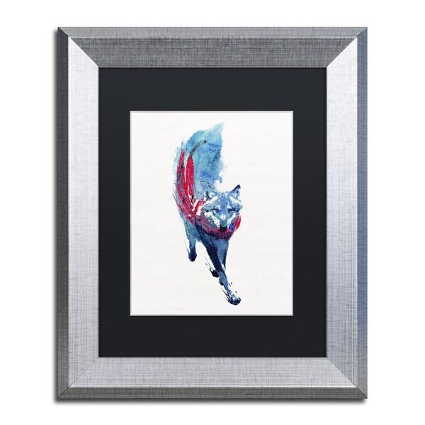 Robert Farkas 'Lupus Lupus' Matted Framed Art