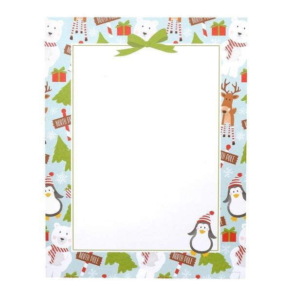 Cheery North Pole Red/White Paper 80-count Stationery Set