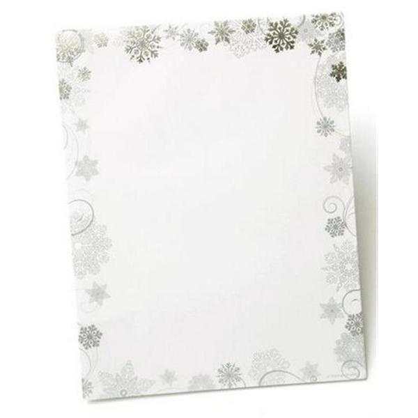 Blue/White Paper Snowflake Foil Holiday Stationery (Case of 40)