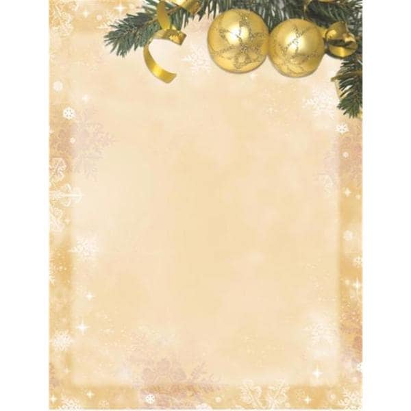 Beige Paper Foil Tree Ornament 40-count Holiday Stationery