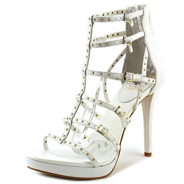 Vince Camuto Women's Revelli White Leather High-heel Shoes