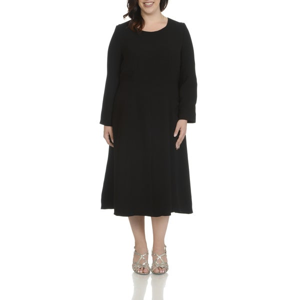 Giovanna Signature Women's Plus-size Seam Detail Dress