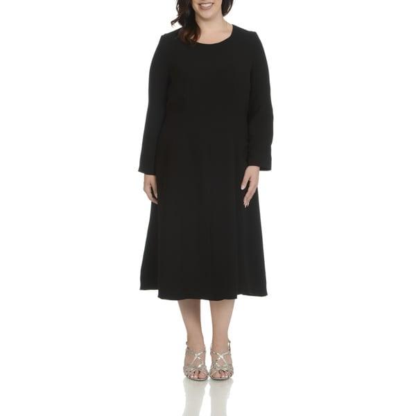 Giovanna Signature Women's Plus-size Seam Detail Dress